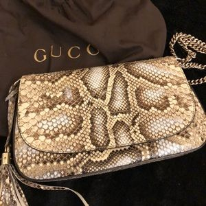 Gucci  python leather